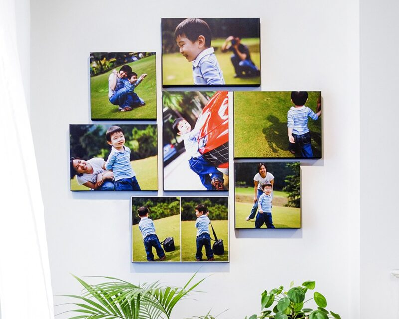 7-pc Canvas Cluster_Mommy & boy_1